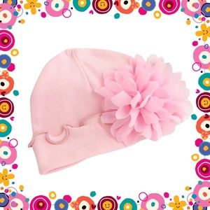 Other - 🌸Baby Girl Pink Flower Cap 🌸